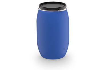 Plastic drums with removable cover