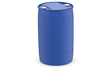 Plastic drums with two caps